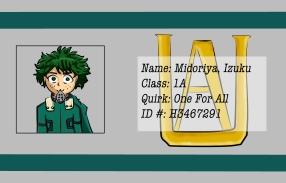 BNHA Student ID Badges Deku