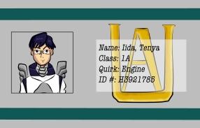 BNHA Student ID Badges Iida