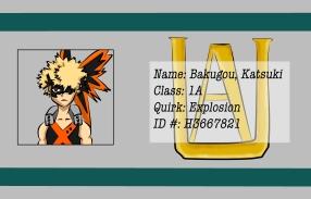 BNHA Student ID Badges Kacchan