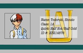 BNHA Student ID Badges Todoroki