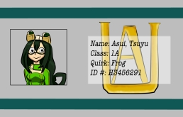 BNHA Student ID Badges Tsu