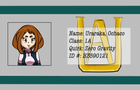 BNHA Student ID Badges Uraraka