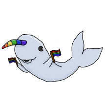 Gay Narwhal (Redbubble)