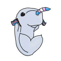 Trans Narwhal (Redbubble)