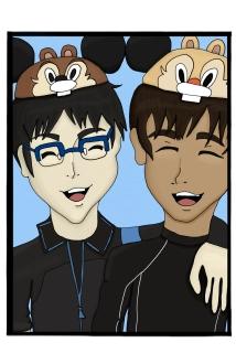 YOI Yuuri and Phichit Disney Portfolio (5.5x8.5)